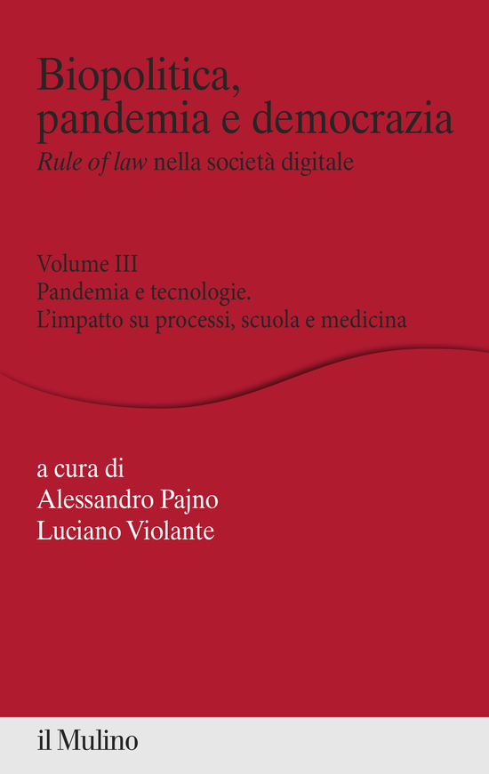 Copertina del libro Biopolitica, pandemia e democrazia. Rule of law nella società digitale